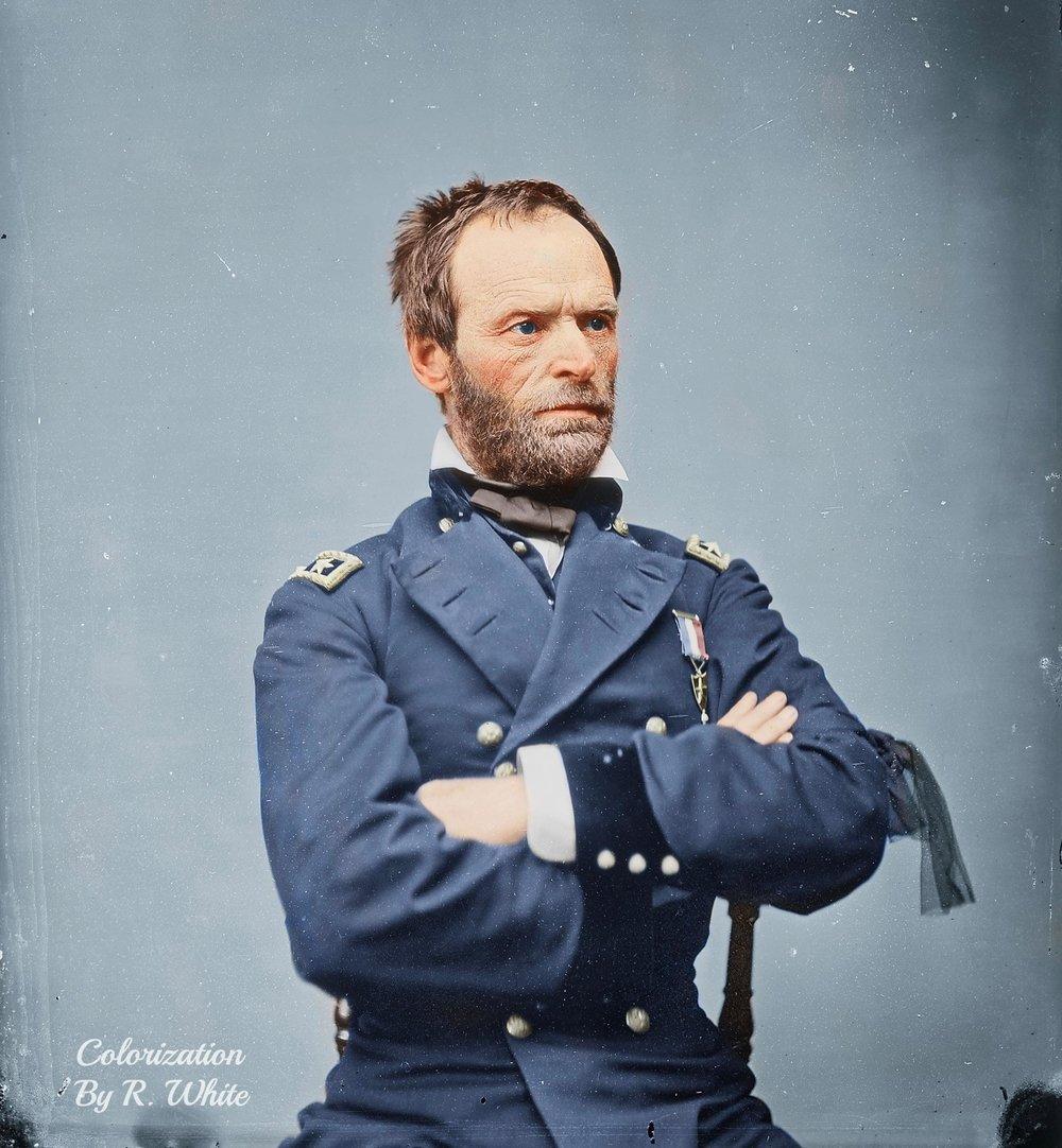 William Tecumseh Sherman - 1865 - Source colorized past