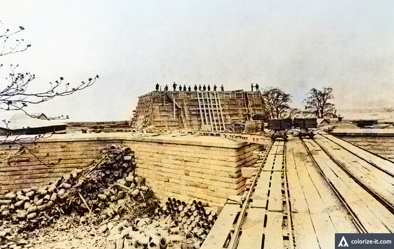Fort Wood - Ile de Bedloe - 1883 - Source nps.gov - image colorisée