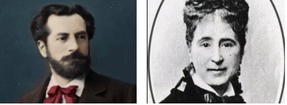 Auguste Bartholdi et sa femme, Jeanne-Emilie