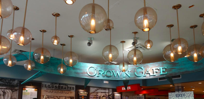 L'intérieur du Crown Cafe Liberty Island