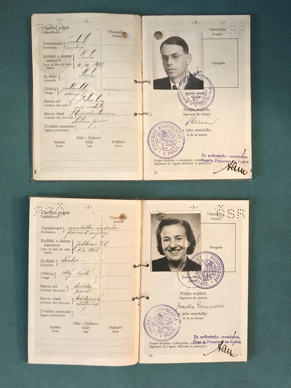 Tom Reiner's parents, Vilém and Edita.