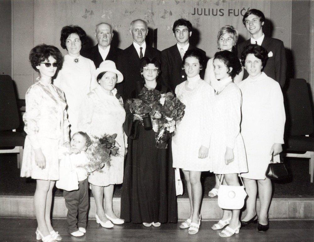 At sister Marie's graduation