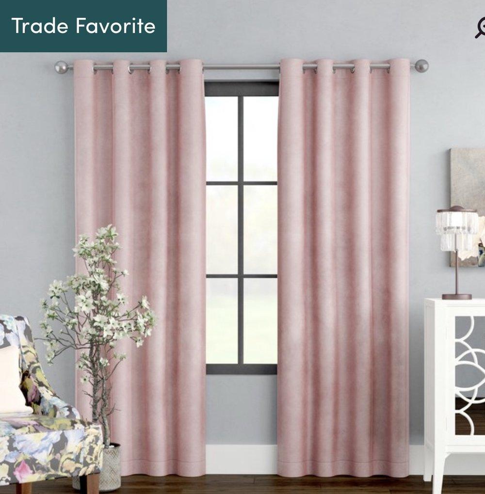 Blush Velvet Curtains -