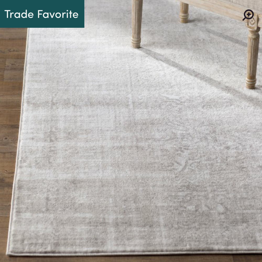 Ismay Ivory/Gray Rug (also comes in light blue) -