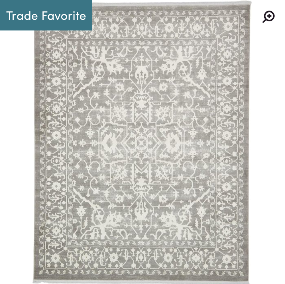 Bryant Gray Rug (also comes in Aqua that's really pretty) -