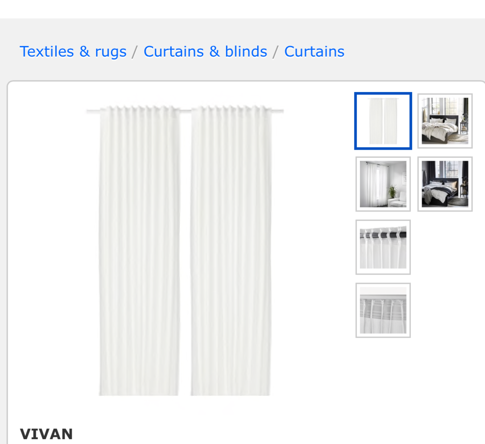Vivian Panels: IKEA.com $12.99 -