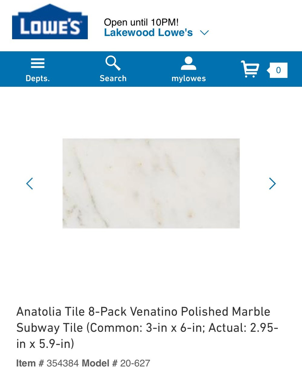 Marble subway tiles are really pretty and have lots of variation. Great for solid gray or mostly white counter tops. -