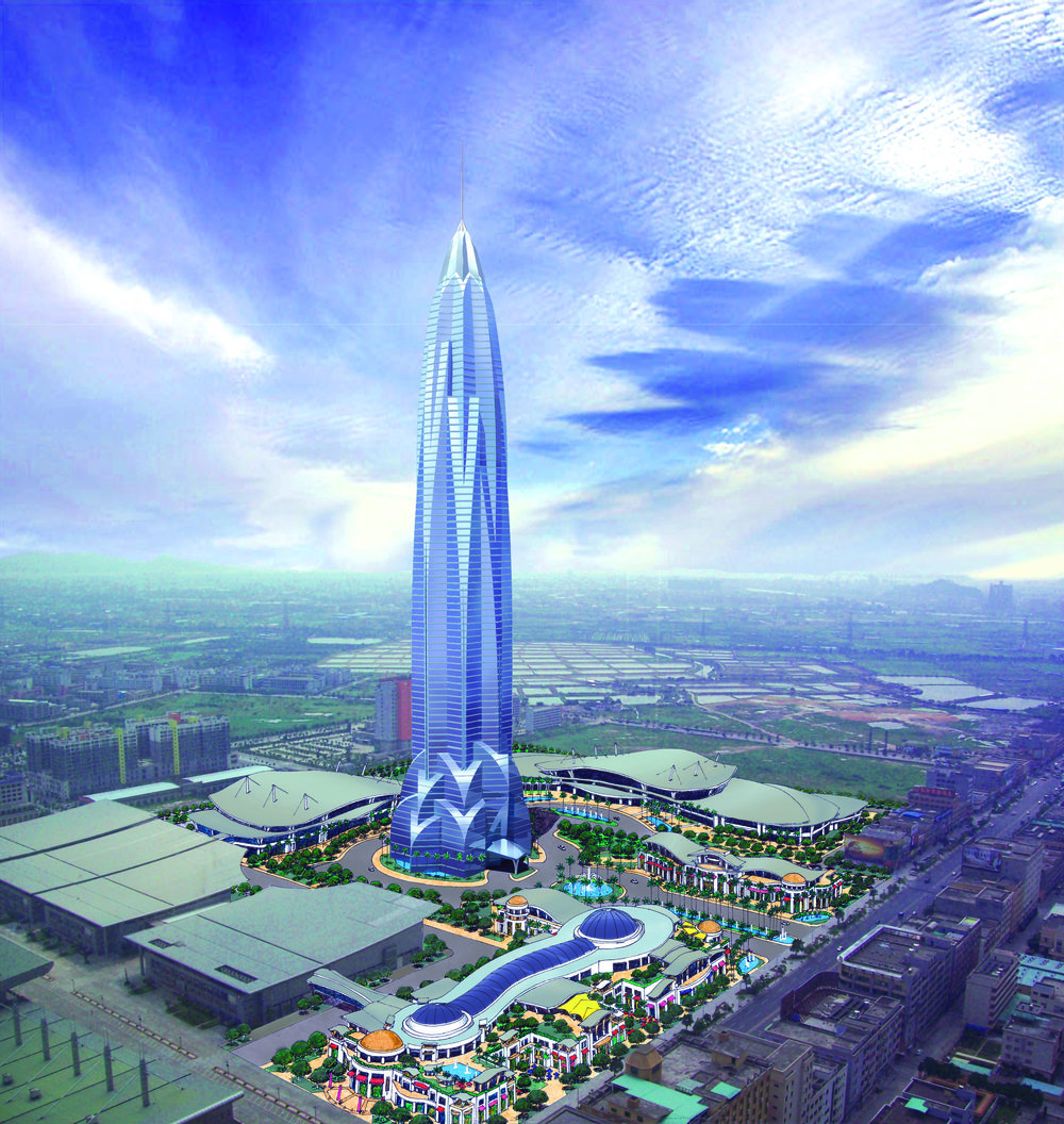 ORIENTAL RESOURCES GROUP CORPORATE TOWER   D ongguan, Guangdong, China   This multi-phase project includes a shopping and retail center, an exhibition and convention center, and an 88-floor iconic tower rising from the center of the development.