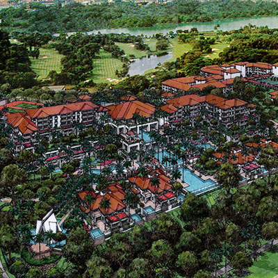 SENTOSA RESORT PLOT 4 OCEAN SUITES    Sentosa Island, Singapore   A 5-star resort development that exudes a contemporary tropical grandeur indicative of the premier resort atmosphere of Sentosa island.