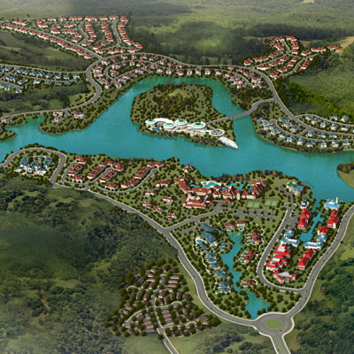 URBAN + RURAL DEMONSTRATION AREA    Yue Tang, Hunan, China   An exclusive, ecologically-centered mixed-use development set on the banks of a lake in a lush valley just outside Xiang Tan Shi city center.