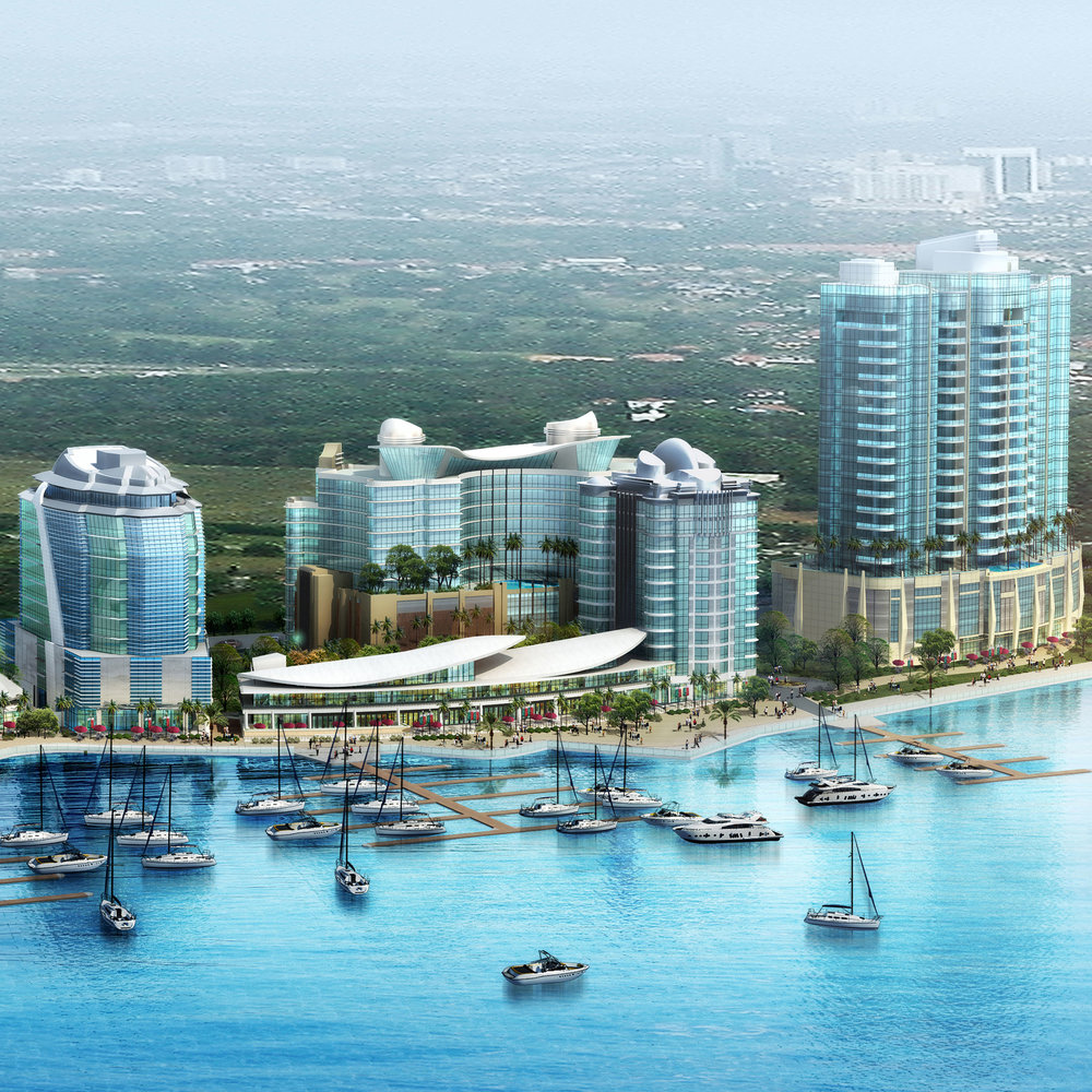 BAY LEAF MIXED-USE COMPLEX    Danga Bay, Johor Bahru, Malaysia   This waterfront development will incorporate an existing conference hall, yacht club and restaurants with a new office building, a 4-star Hotel, service apartment + residential apartment tower.
