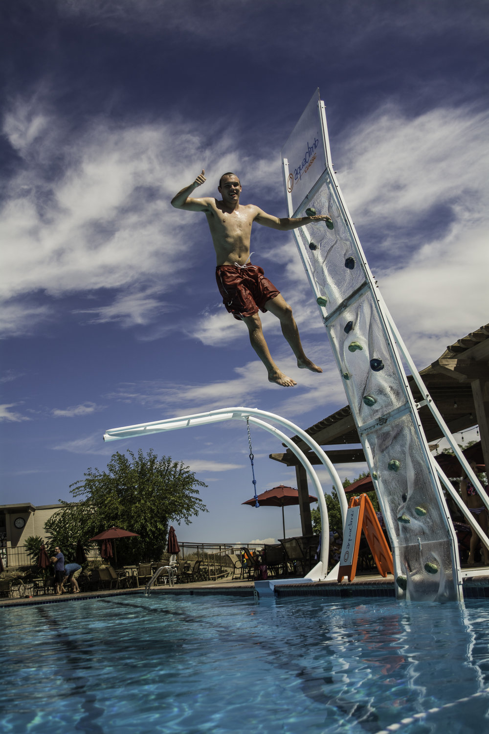 24% of pools plan to add a climbing wall - in the next three years, according to Recreation Management