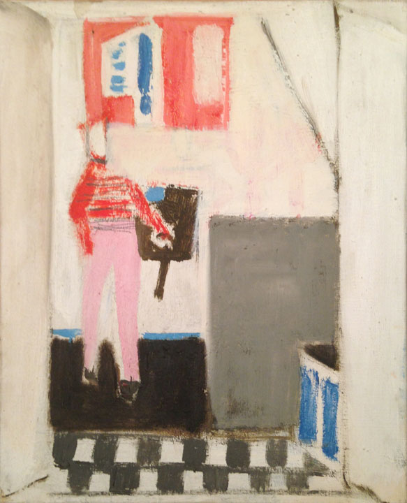 Figure rouge dans un interior, 1974