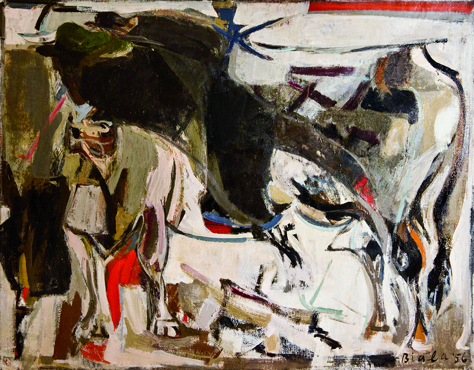 The Bull, 1956 Oil on canvas, 43 x 54 3/4 in. (109.2 x 139 cm)