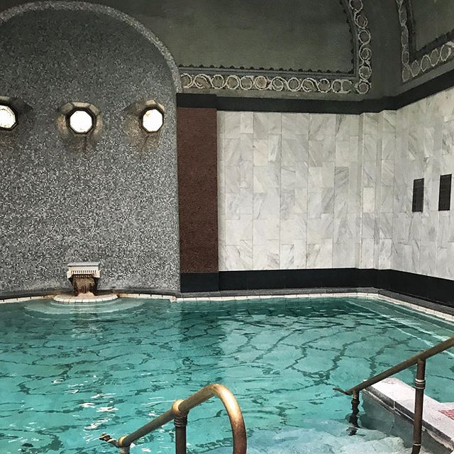 After doing tons of walking on this trip, a soak in restorative thermal waters is just what I needed.  If you go in the morning, it's practically empty. #budapest #thermalbaths #relaxing