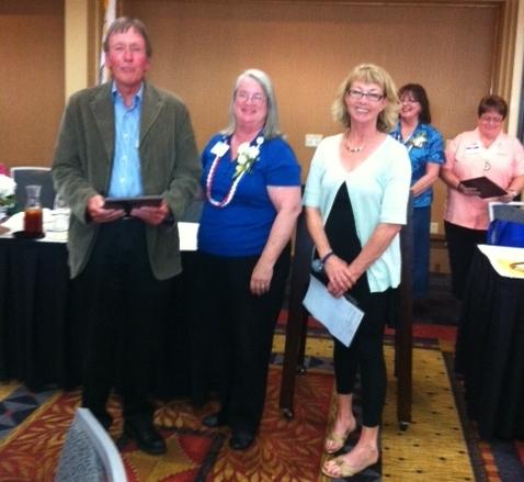 Sebastopol Kiwanis member Barry Lutz receiving outstanding citizen award in Santa Rosa -