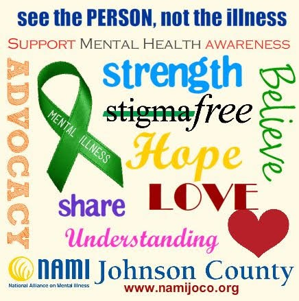 You are not alone! - We are a community that supports people with mental illness and their loved ones.Email - namijoco@gmail.comPhone - (913) 210-0630