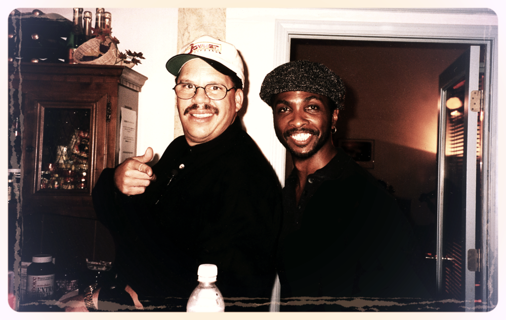 Tom Joyner  aka  The Fly Jock  and Uncle Butchie aka  Morris Butch Stewart.