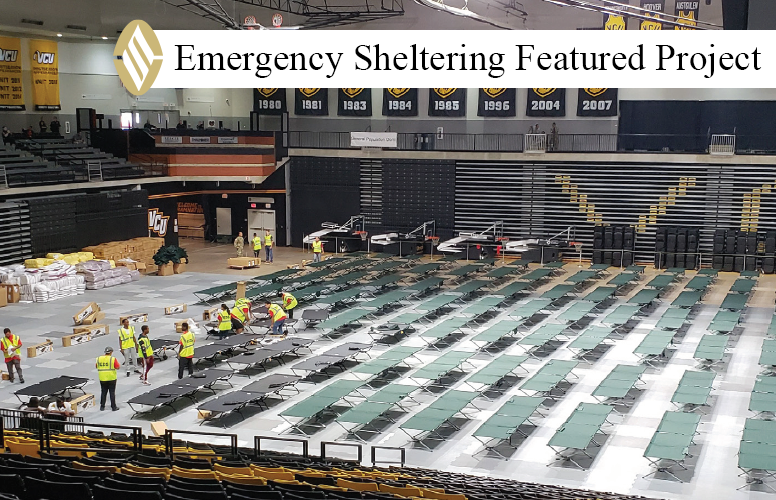 FEATURED PROJECT:  In anticipation of Hurricane Florence's impact on the East Coast, SLS was activated by the Virginia Department of Emergency Management to provide emergency shelter services for the state of Virginia and surrounding state evacuees.