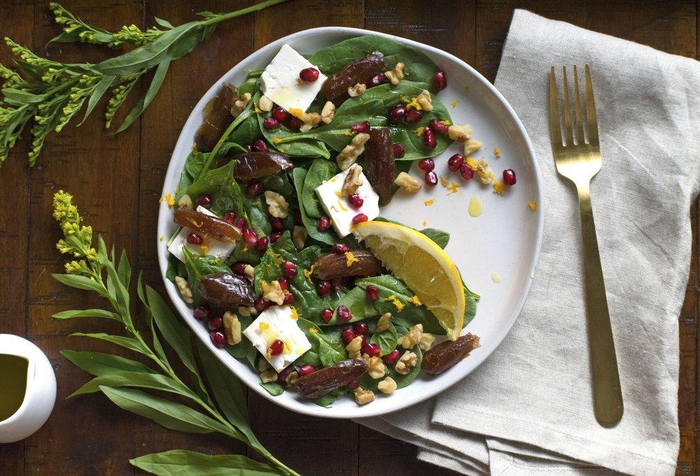 Date & Feta Salad | shutupeatthis.com