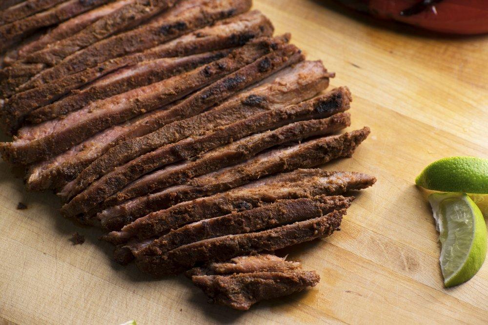 Cinnamon Rubbed Flank Steak   shutupeatthis.com