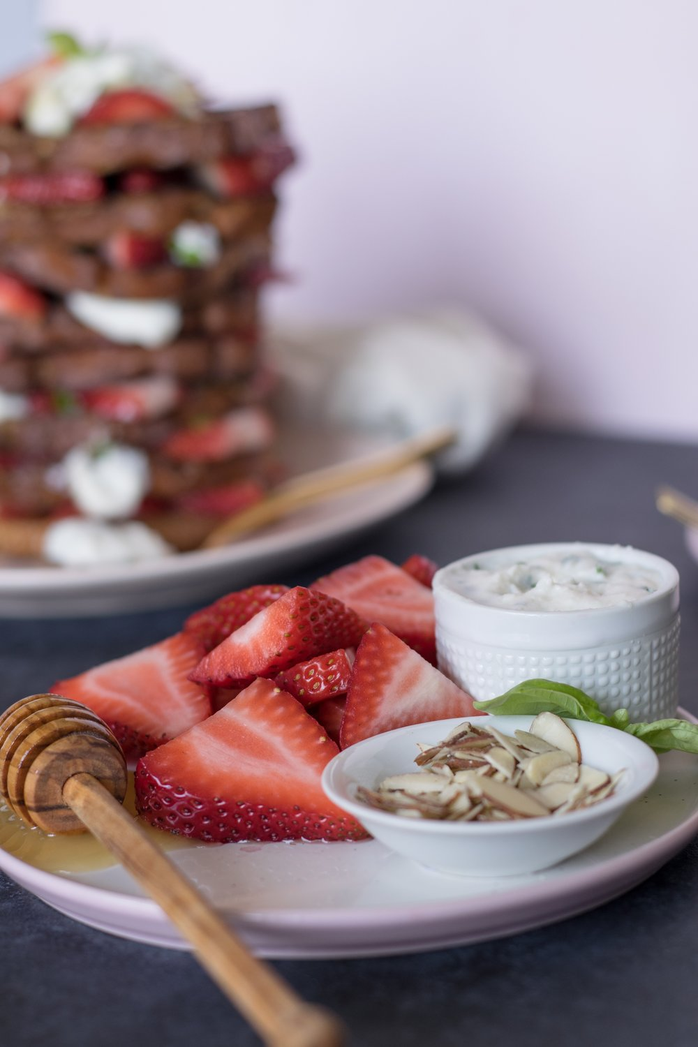 Gluten-Free French toast with whipped basil ricotta | shutupeatthis.com