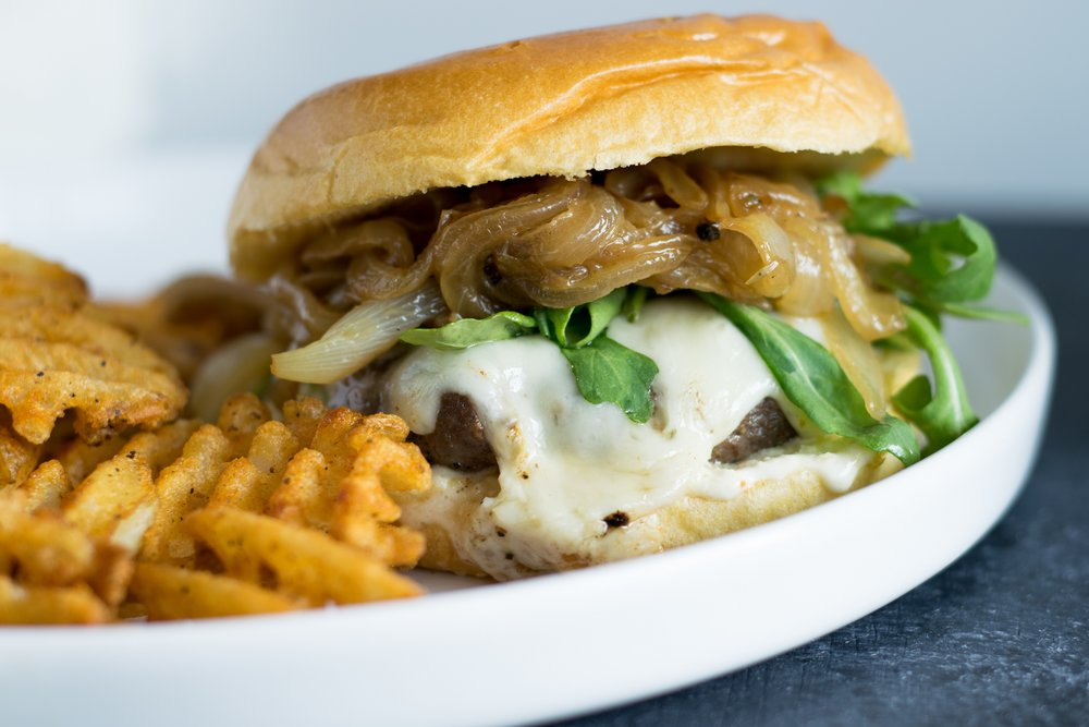 French Onion Soup Burger | shutupeatthis.com