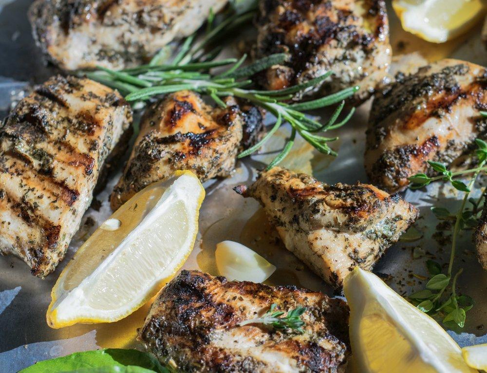 Mediterranean marinated grilled chicken | shutupeatthis.com