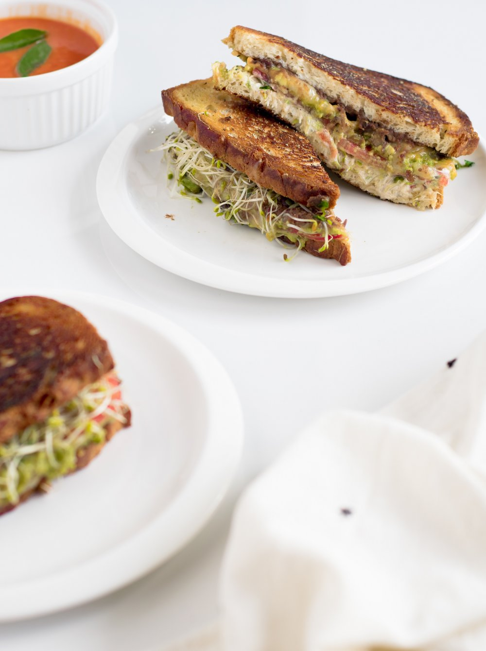 California Sandwich (Grilled vegetarian sandwich) | shutupeatthis.com