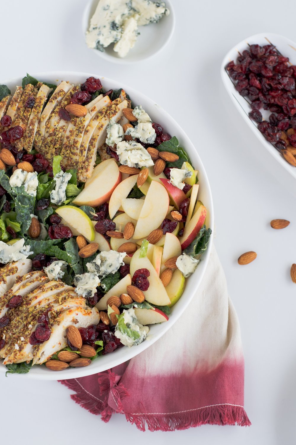 Fall Apple Salad with Mustard Crusted Chicken Breast | www.shutupeatthis.com