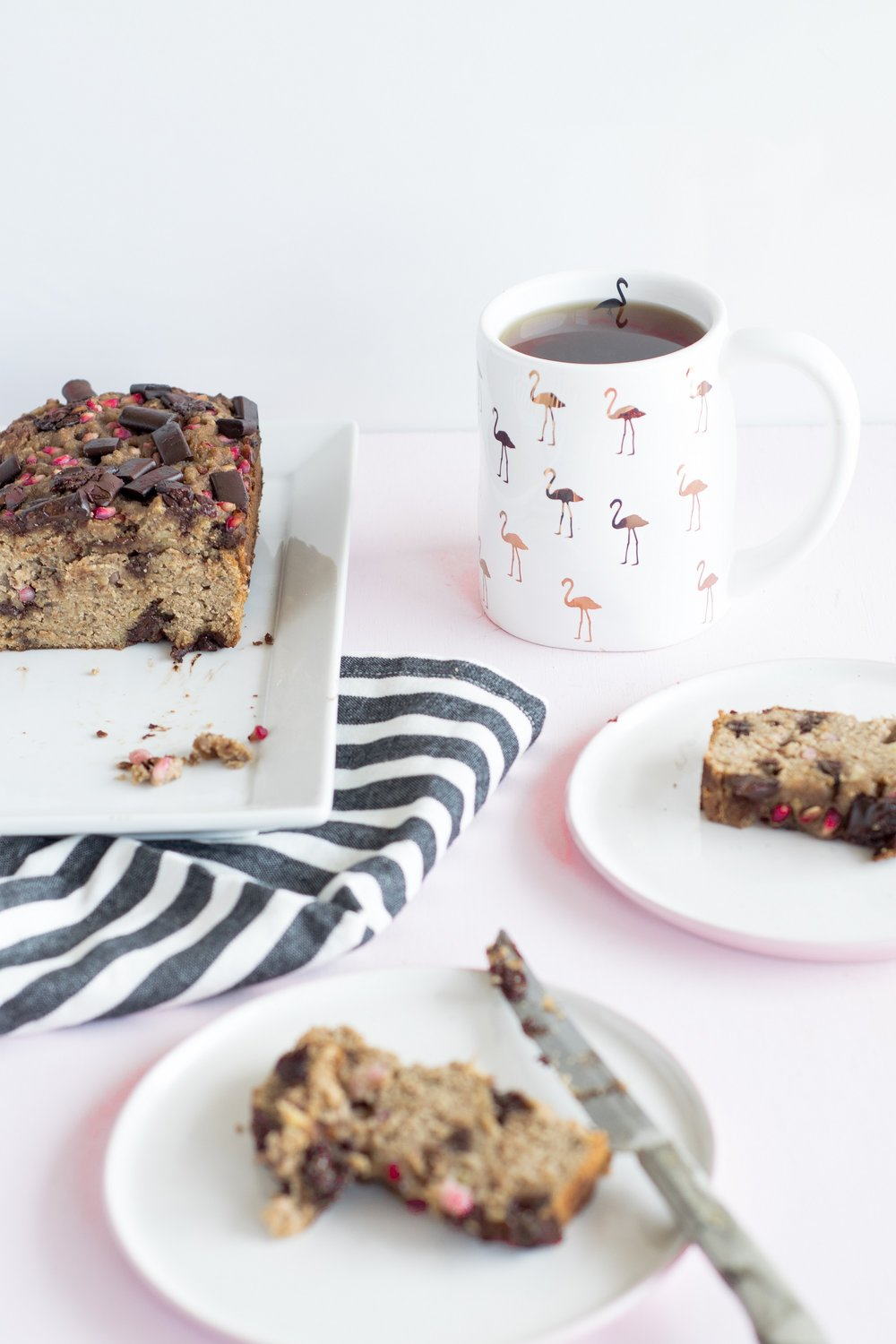 Dark Chocolate Chunk Pomegranate Banana Bread | www.shutupeatthis.com
