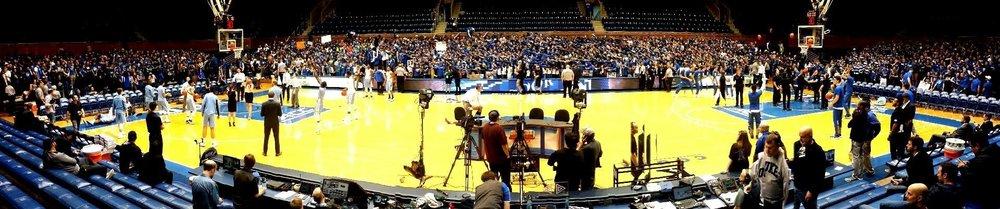 """Duke vs NC—71 minutes before tip off, March 5, 2016""—Trip Durham's pregame Facebook post"