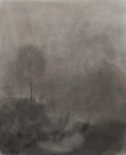 Merri Creek  1355 x 1135, 2014, Charcoal on Linen
