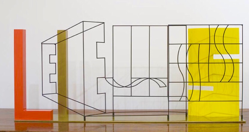 Lies 2000, Peter D Cole, Painted and patinated brass