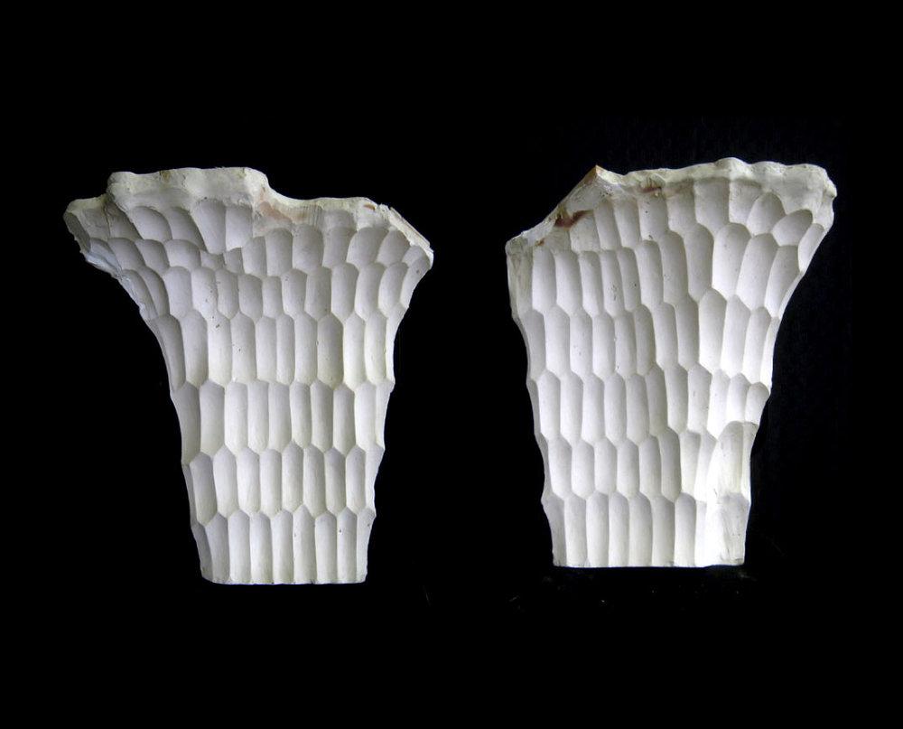 Honeycomb Forms. (Architectural model) 2012 Plaster. Richard Stringer