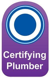 Certifying Plumber certified