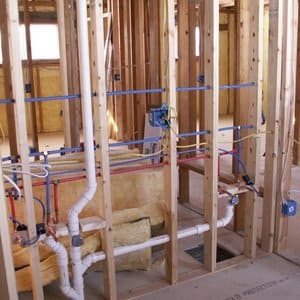 New Home Plumbing   Installation of new pipework for bathrooms, toilets, kitchens, laundries.