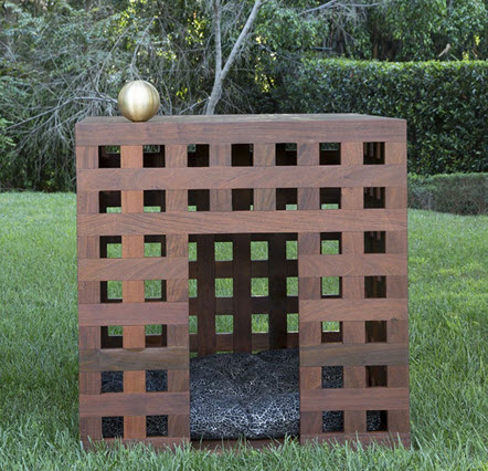 I simply adore this avant-garde dog house by Kelly Wearstler. Bonus: It can be used indoors or out.