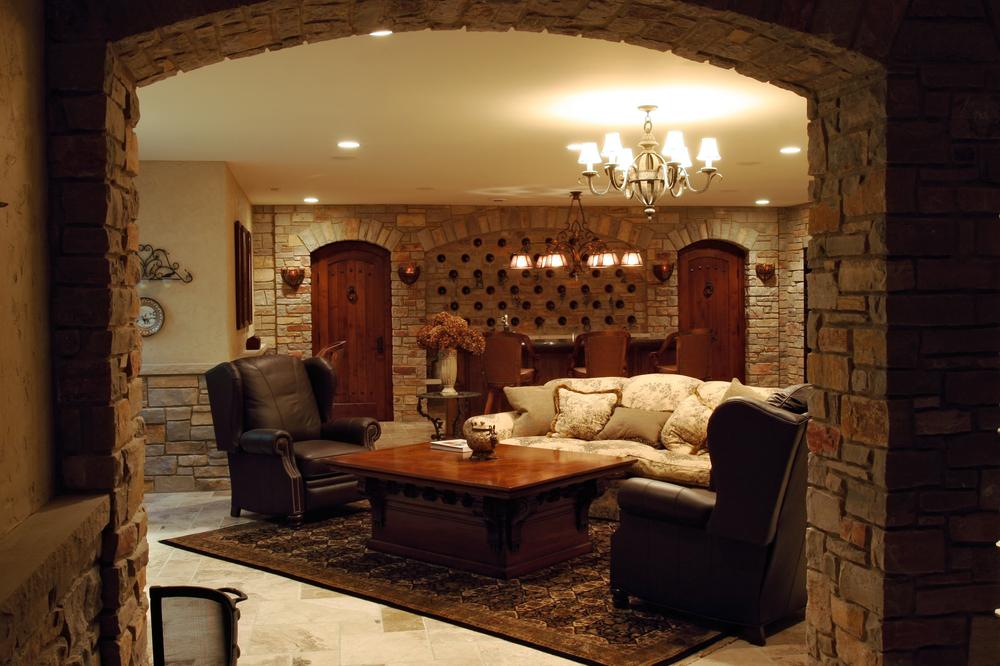 Wine Cellar Interior Remodel