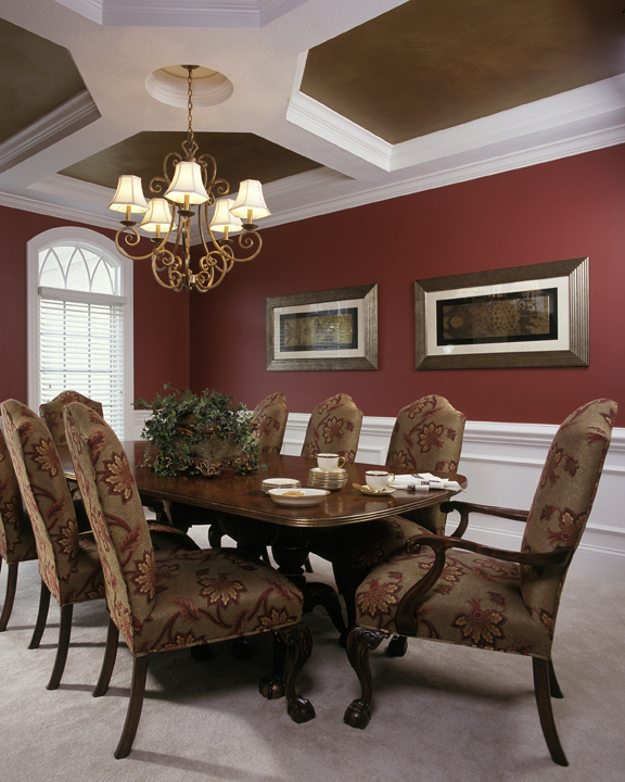 Graceful and Stylish Formal Dining Room
