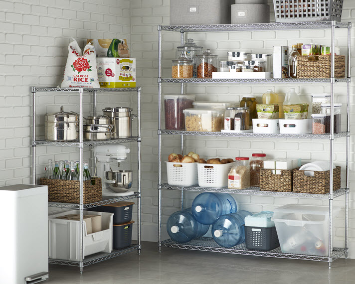 Portable shelving units are great for garages and basements.