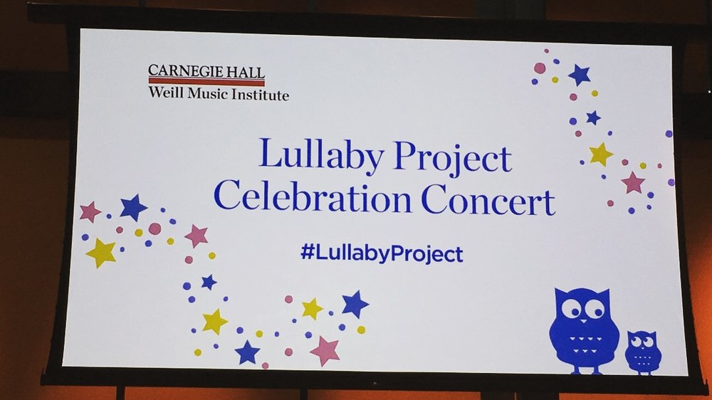 Lullaby project at Carnegie Hall3.JPG