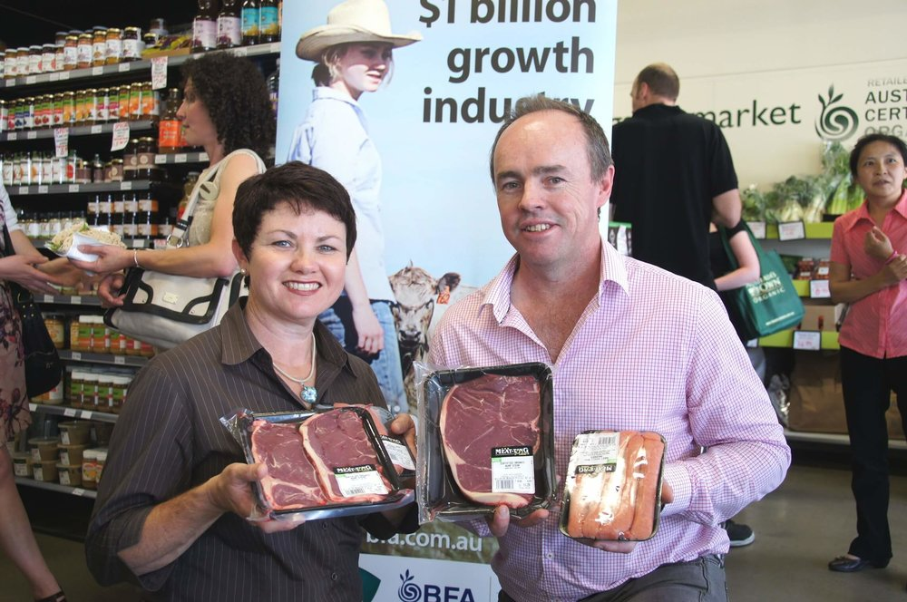 Matt and Julie O'Leary organic beef producers.JPG