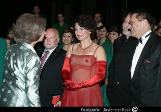with the Spanish Queen Sofía, Madrid