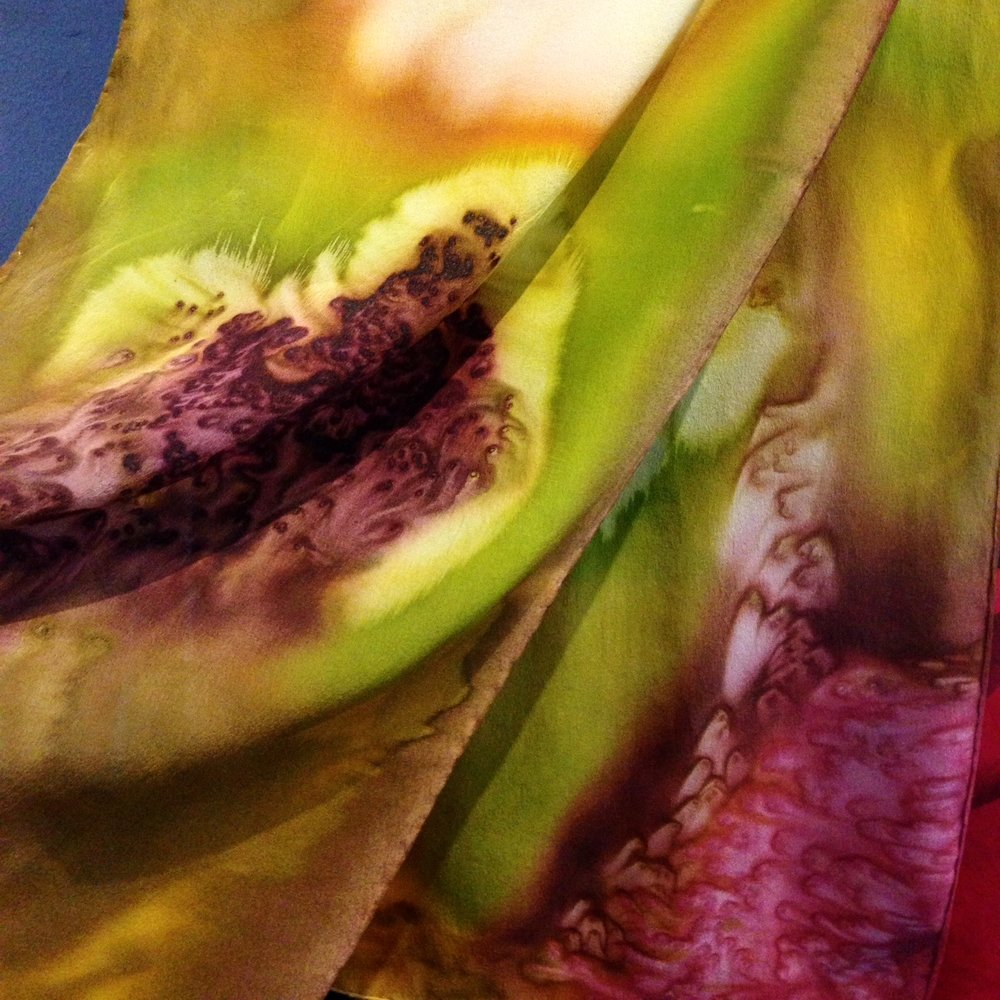 Hand Painted Silk Scarves - by Linda Simpson