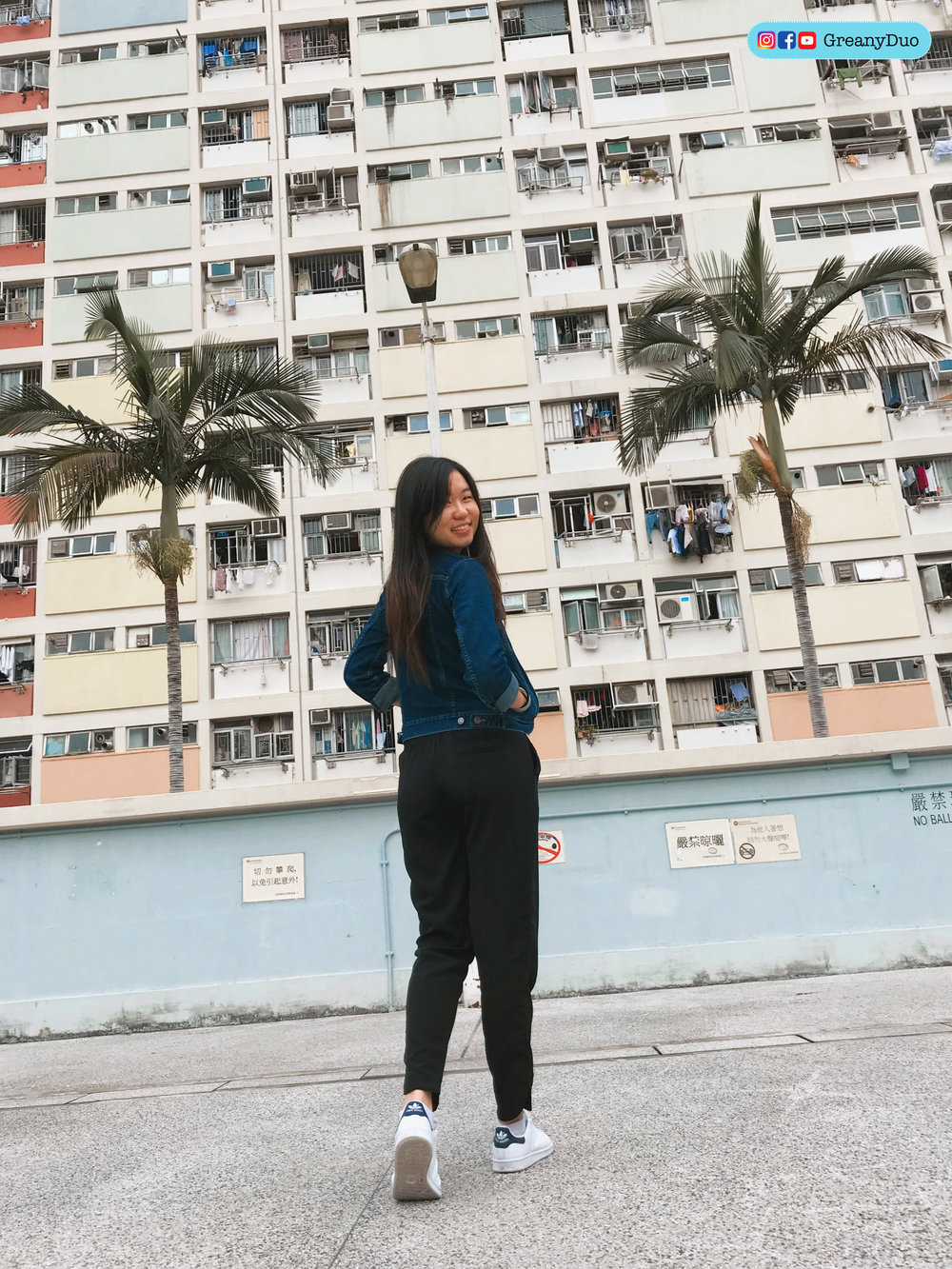tina in front of Choi Hung Estate