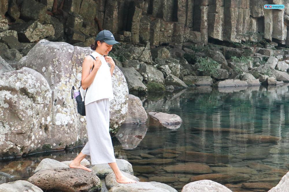 klook western jeju island tour, cheonjeyeon waterfalls