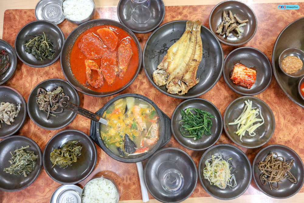 fish meal at jeju island