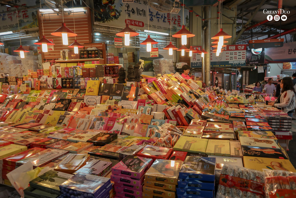 orange souvenirs, dongmun market, jeju