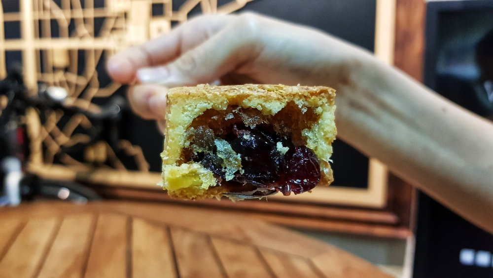 cranberry pineapple pastry, Chia Te Bakery (เจียเต๋อ 佳德鳳梨酥) store, taipei, taiwan